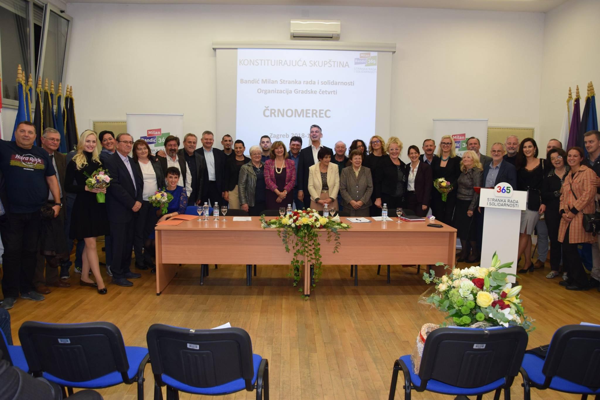 Osnovana organizacija Gradske četvrti Črnomerec Bandić Milan 365 – Stranka rada i solidarnosti
