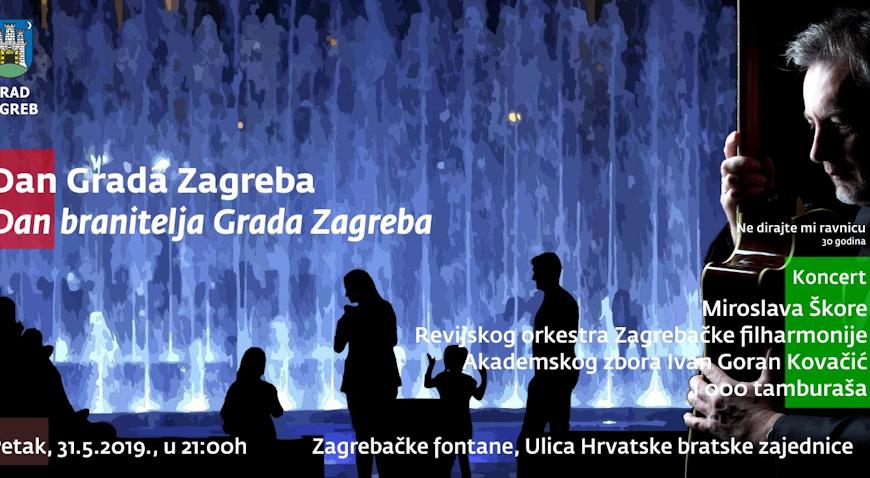 NOVI TERMIN KONCERTA – Škoro na fontanama pjeva u petak