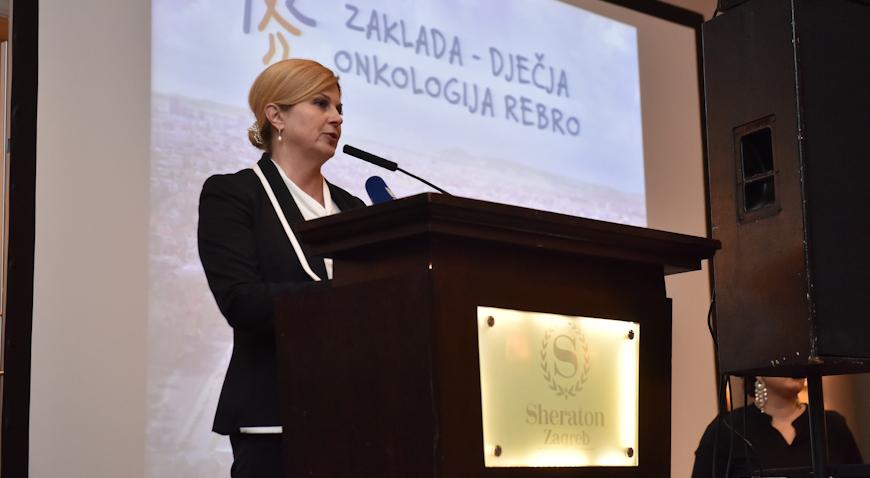 Predsjednica Kolinda Grabar-Kitarović pokroviteljica projekta Zaklade dječje onkologije