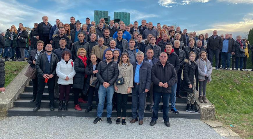 FOTO: Nikad brojnija delegacija Goričana odala počast vukovarskim žrtvama