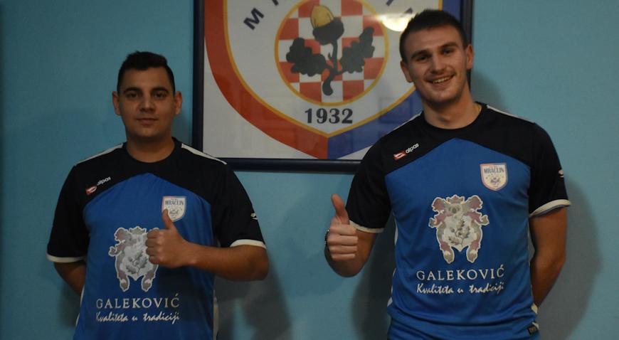 Matej Skrbin i Hrvoje Kolarić u dresu Mraclina