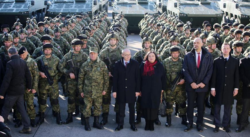 VIDEO: Pripadnici 2. hrvatskog kontingenta ispraćeni u Litvu