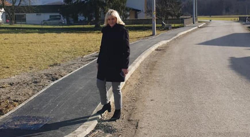 Toplička cesta u Jakovlju dobila nogostup
