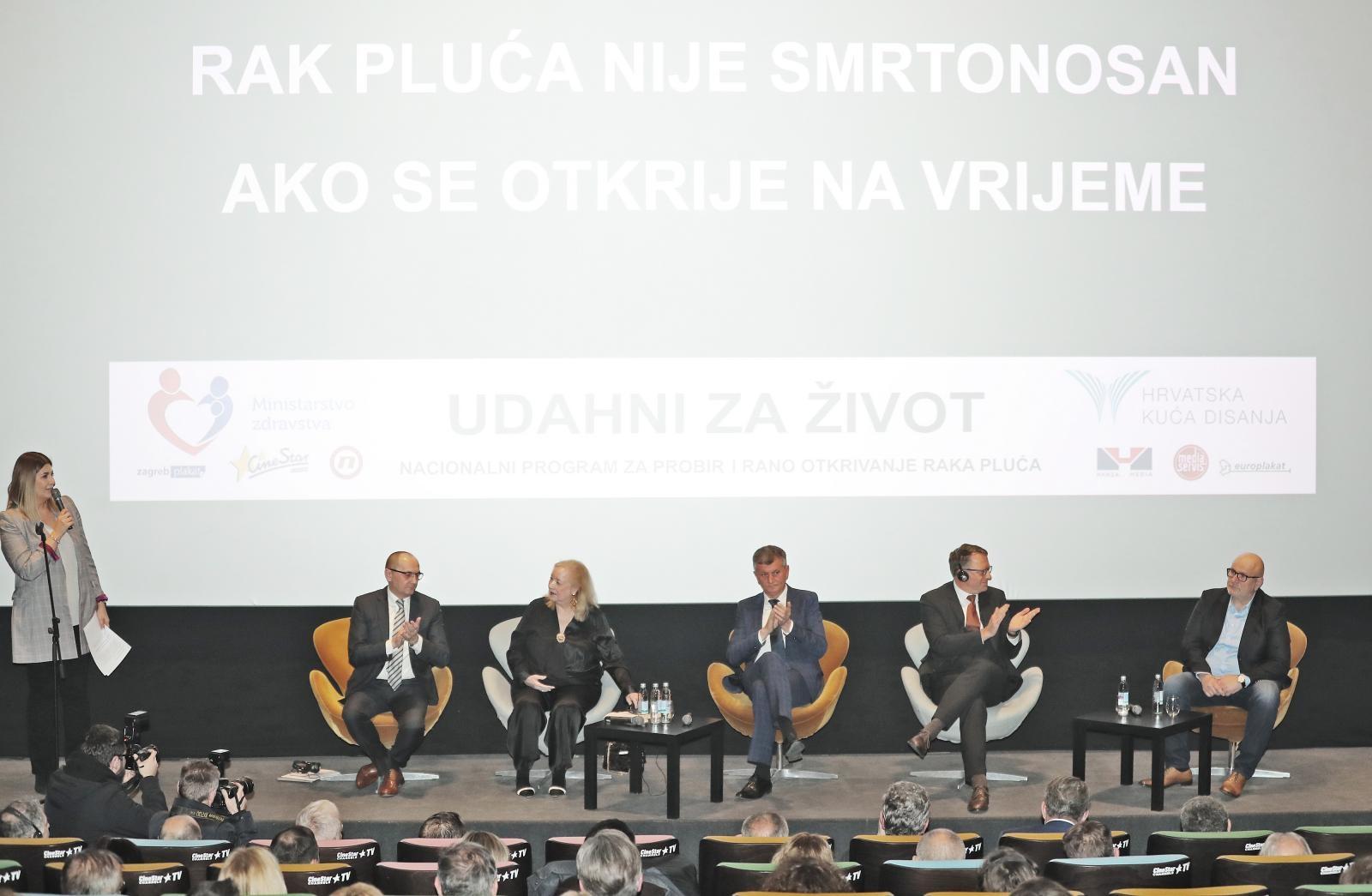 U Zagrebu predstavljen Nacionalni program za probir i rano otkrivanje raka pluća