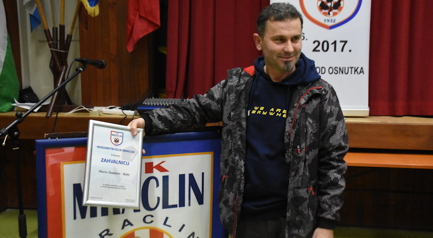 Mario Tandarić Bubi – dobri duh Nogometnog kluba Mraclin